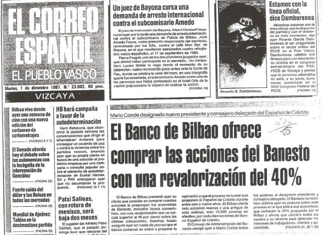 portada-del-diario-el-correo-el-dia-despues-de-la-opa-de-banesto