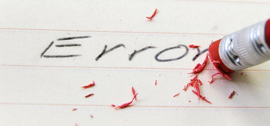 borrar errores finanzas personales corrección aprendizaje fallos