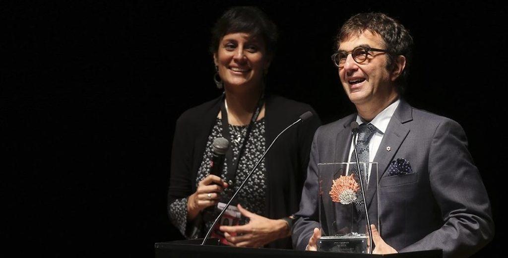 Fotografía del cineasta Atom Egoyan en el Festival de Cine de Lima, que cuenta con el apoyo de la Fundación BBVA Continental.