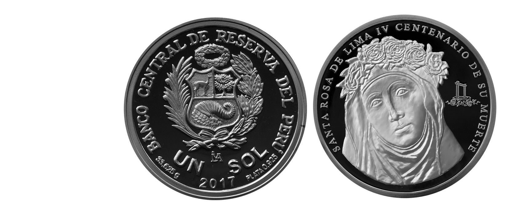 BCR lanza moneda alusiva al IV centenario de la muerte de Santa Rosa de Lima