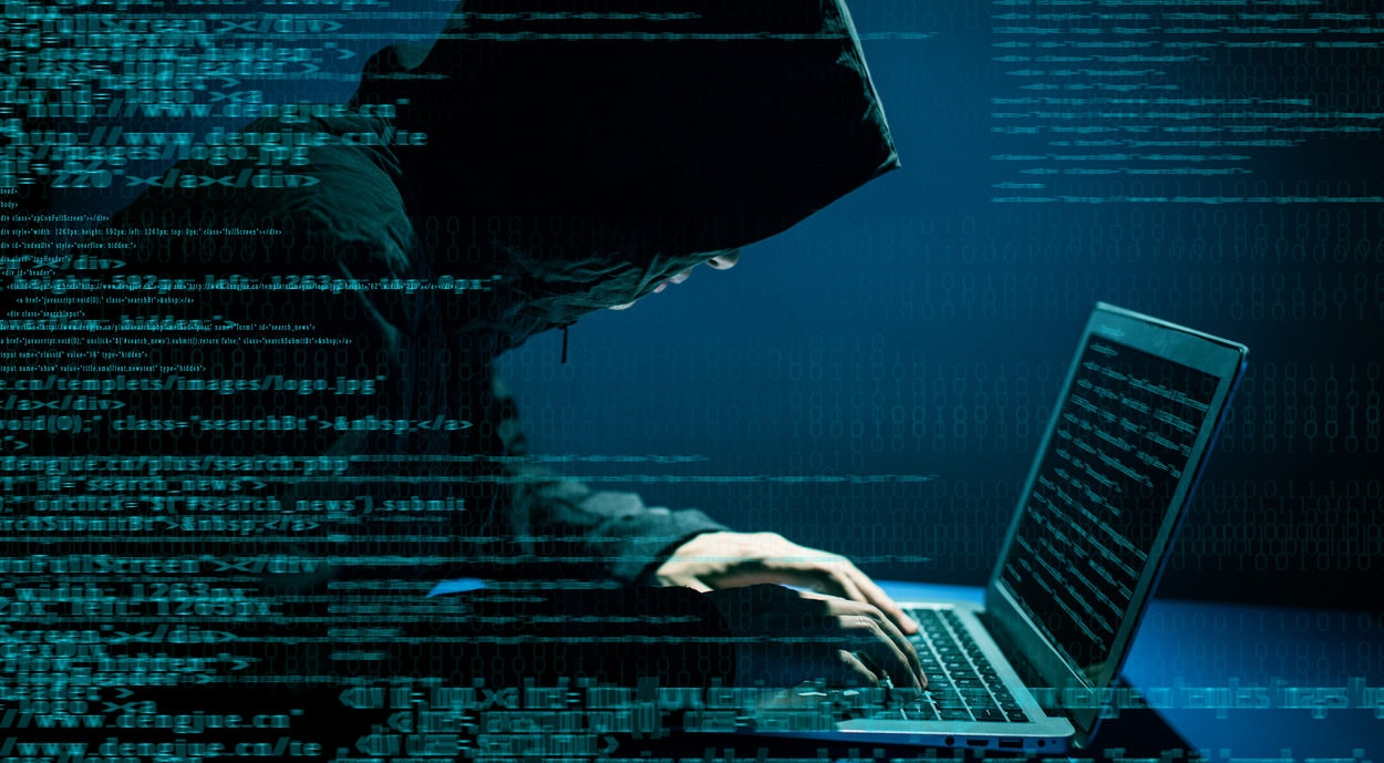 Hacker attacking internet bbva