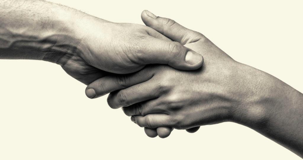 Two hands - help bbva