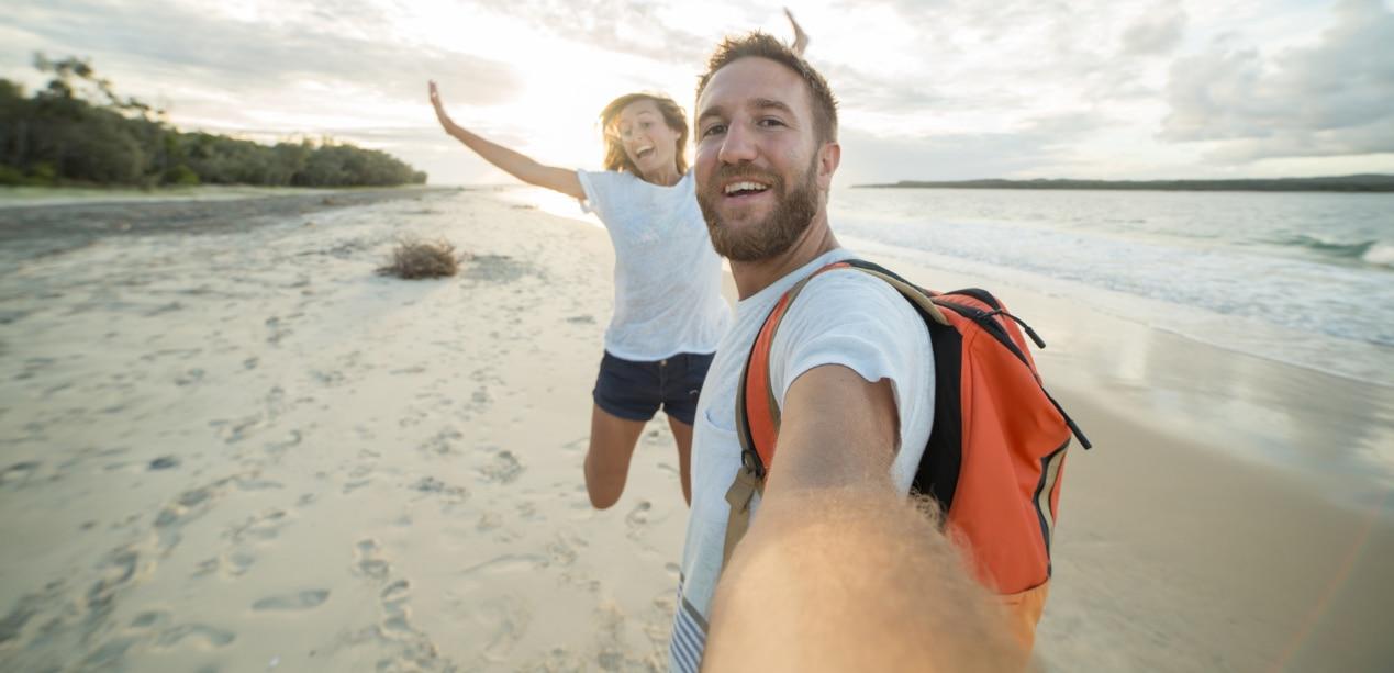 selfi-foto-movil-playa-bbva