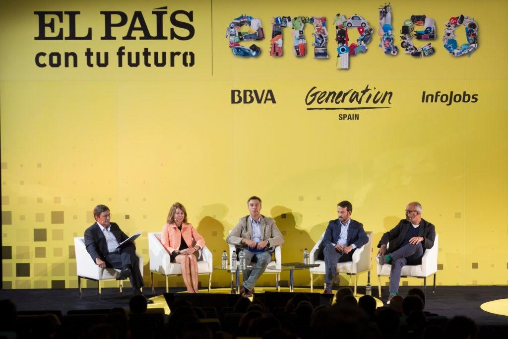 Mesa redonda del foro El Páis con tu futuro empleo, patrocinada por BBVA