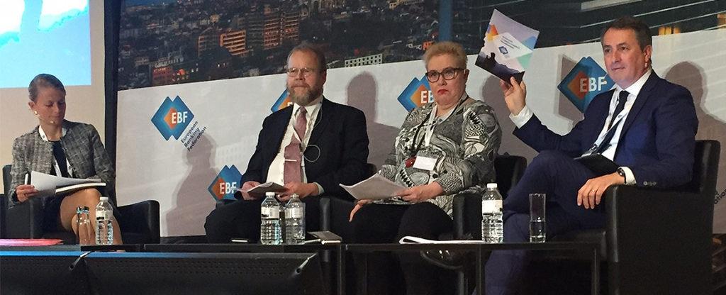 Fotografía: European Banking Summit 2017; intervención de Antoni Ballabriga