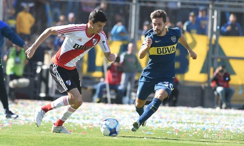 Boca y River disputaron la Copa BBVA Francés 2017 en San Juan.