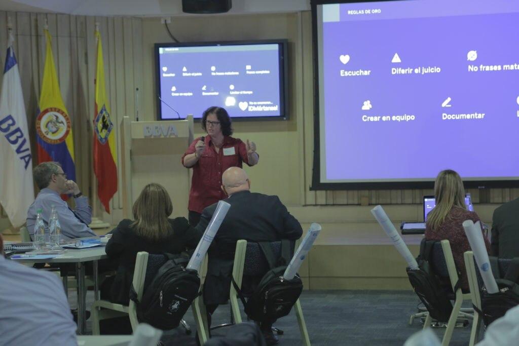 fotografía de Design thinking jornada directiva BBVA Colombia