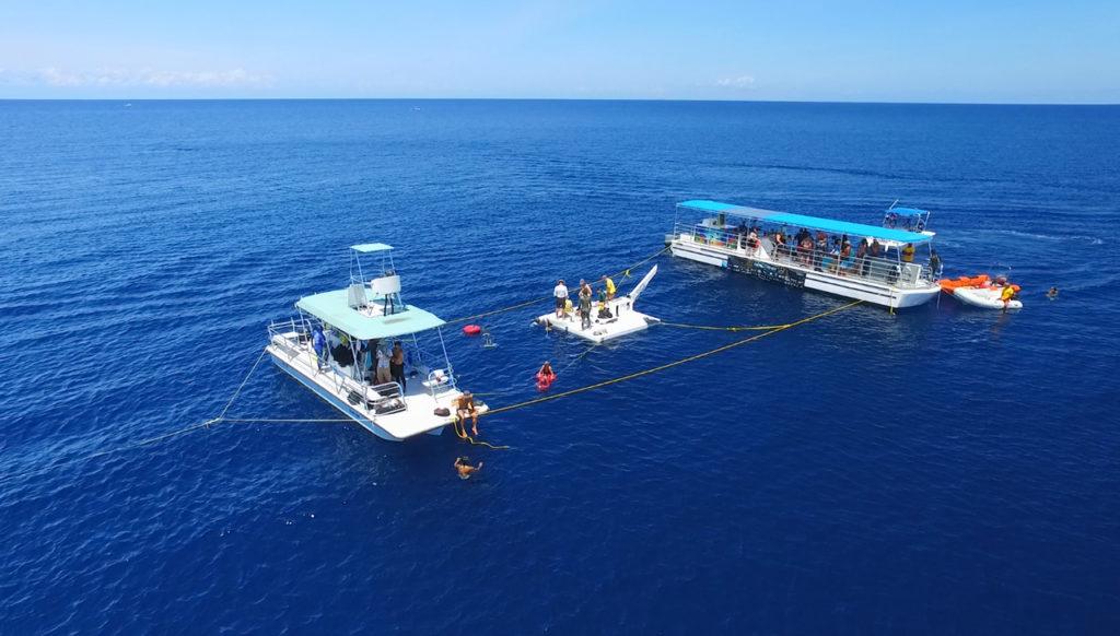 Plataforma en Roatan, Honduras, mundial de Apnea