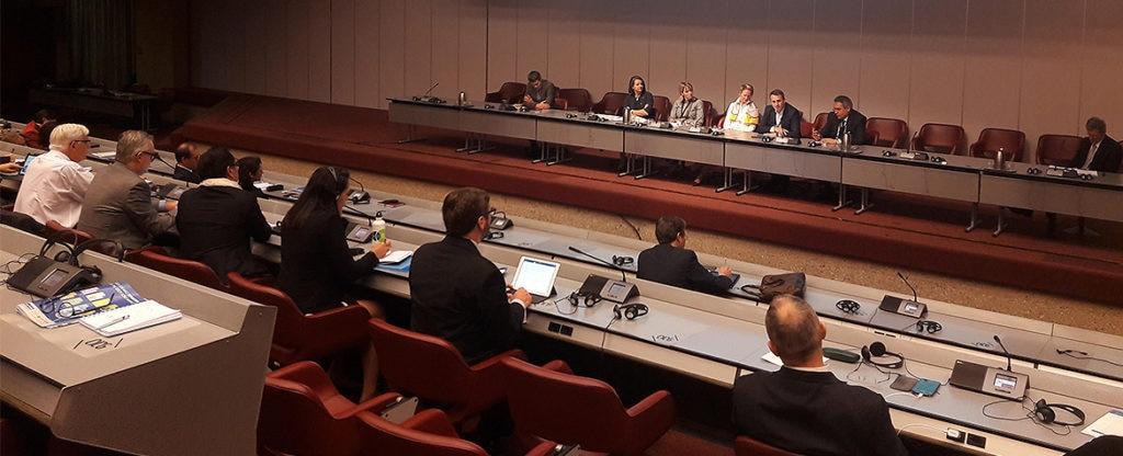 Imagen de la conferencia de la UNEP Finance Iniciative, intervención de Toni Ballabriga