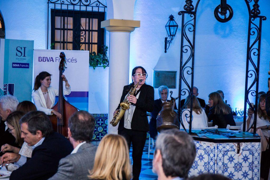 Banda de Jazz en la cena inaugural del San Isidro Jazz & Más.