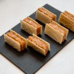 Turrón salado de almendra con tempheto de arroz