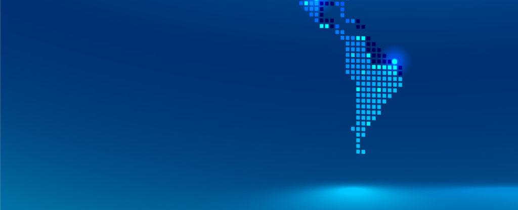 fototrafía de mapa de América Latina BBVA