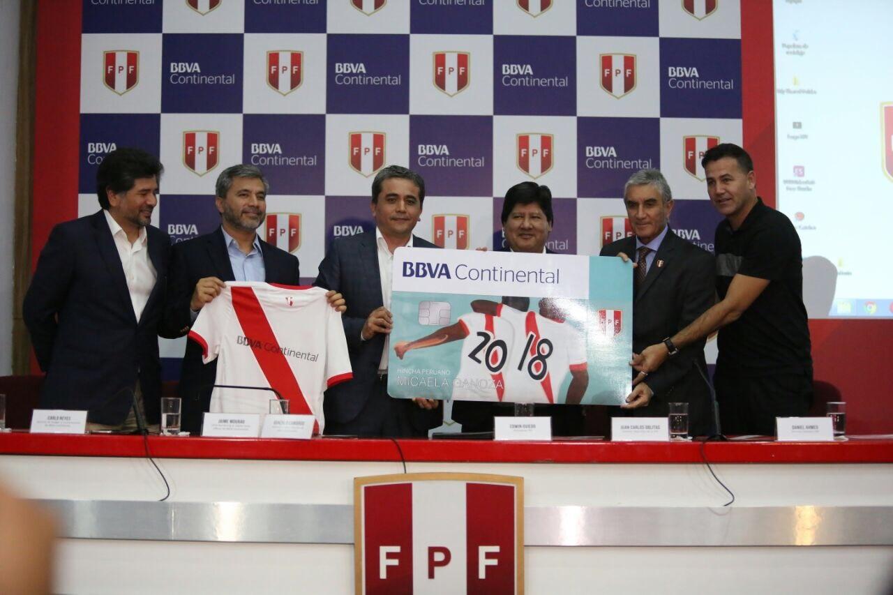 Acuerdo patrocinio BBVA Continental y Federación de Fútbol de Perú