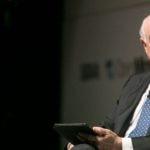Francisco González, presidente de BBVA, durante la presentación del libro