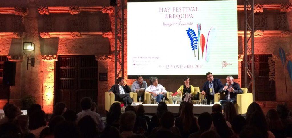 La casona Tristán del Pozo, de la Fundación BBVA Continental, fue una de las sedes del Hay Festival.