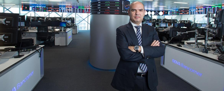 Fotografia de Manuel Meza, responsable de Global Structured Solutions México BBVA Bancomer