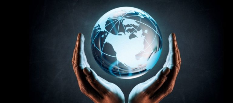 mundo manos global conectado recurso bbva