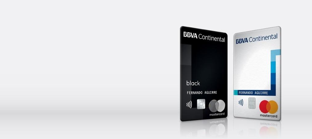Fotografía de nuevas tarjetas Mastercard en el portafolio de BBVA Continental.