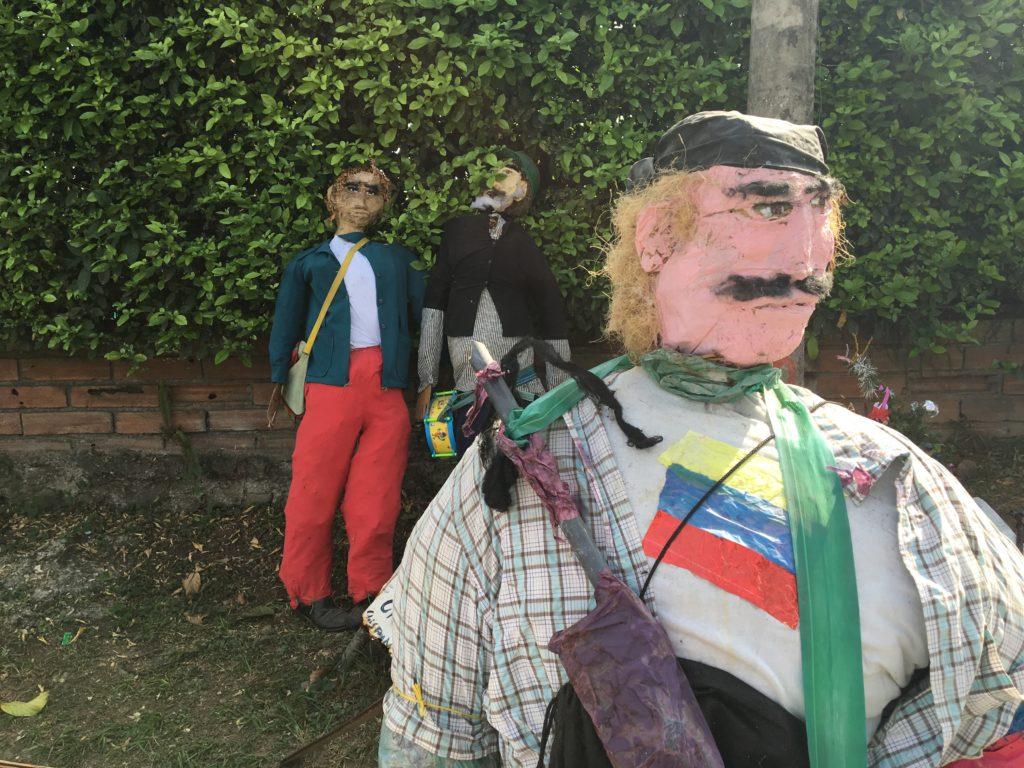 Muñeco de fin de año en Colombia