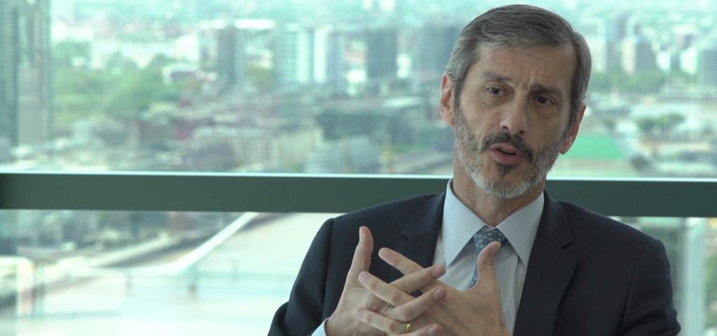 Martín Zarich, presidente ejecutivo de BBVA Francés, durante la entrevista para el especial de Argentina en bbva.com