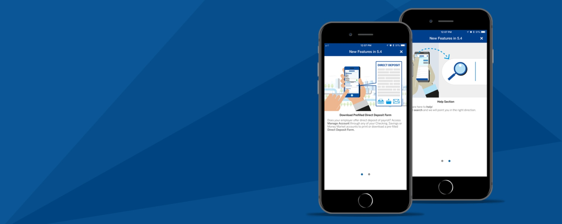 BBVA Compass Mobile Banking App version 5.4 with all new functionality search, direct deposit form and refreshed app icon released | BBVA