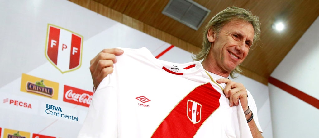 Ricardo Gareca, técnico de la selección de Perú.