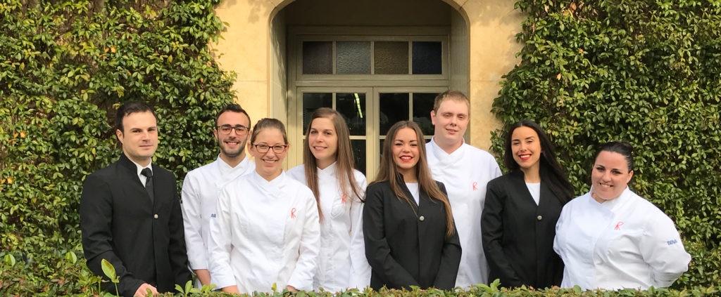 Los nuevos stagiers de El Celler de Can Roca de la Beca BBVA de Gastronomía