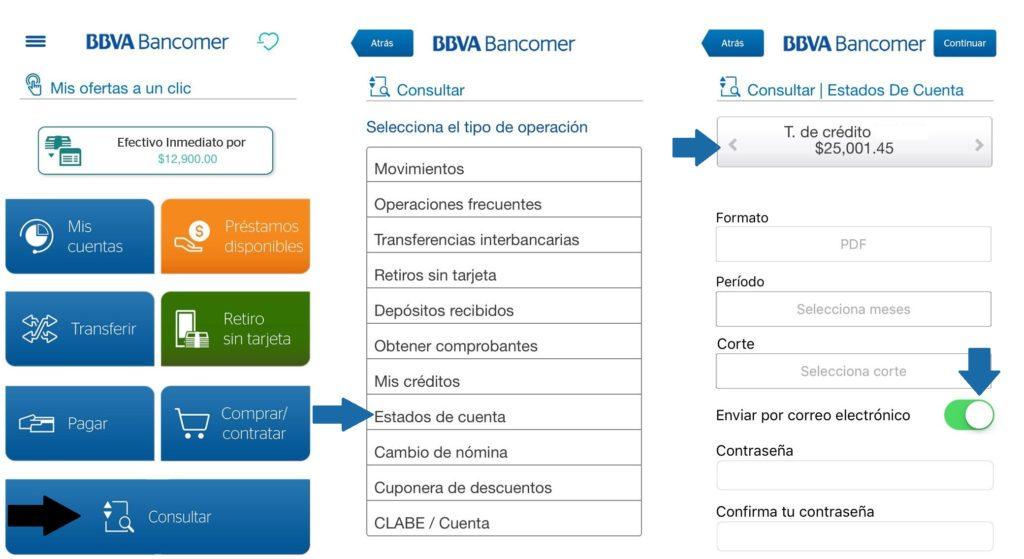 Solicitud de EDC Bancomer Móvil