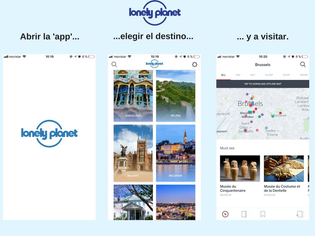 lonely planet app viajar bbva