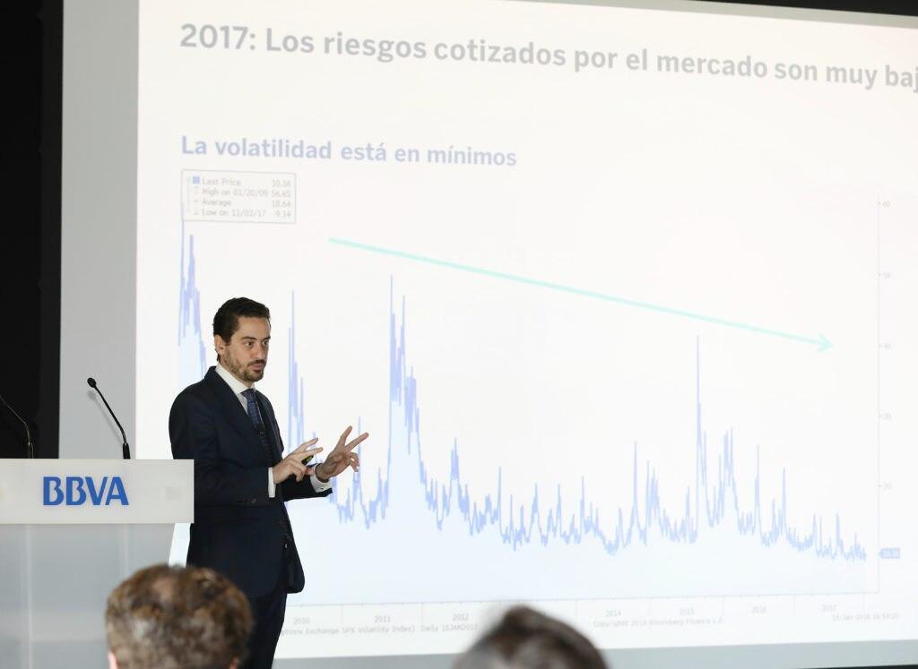 Imagen de Alberto Gómez-Reino, director de Inversiones de Clientes Institucionales de BBVA Asset Management en la Conferencia de Inversiones 2018.