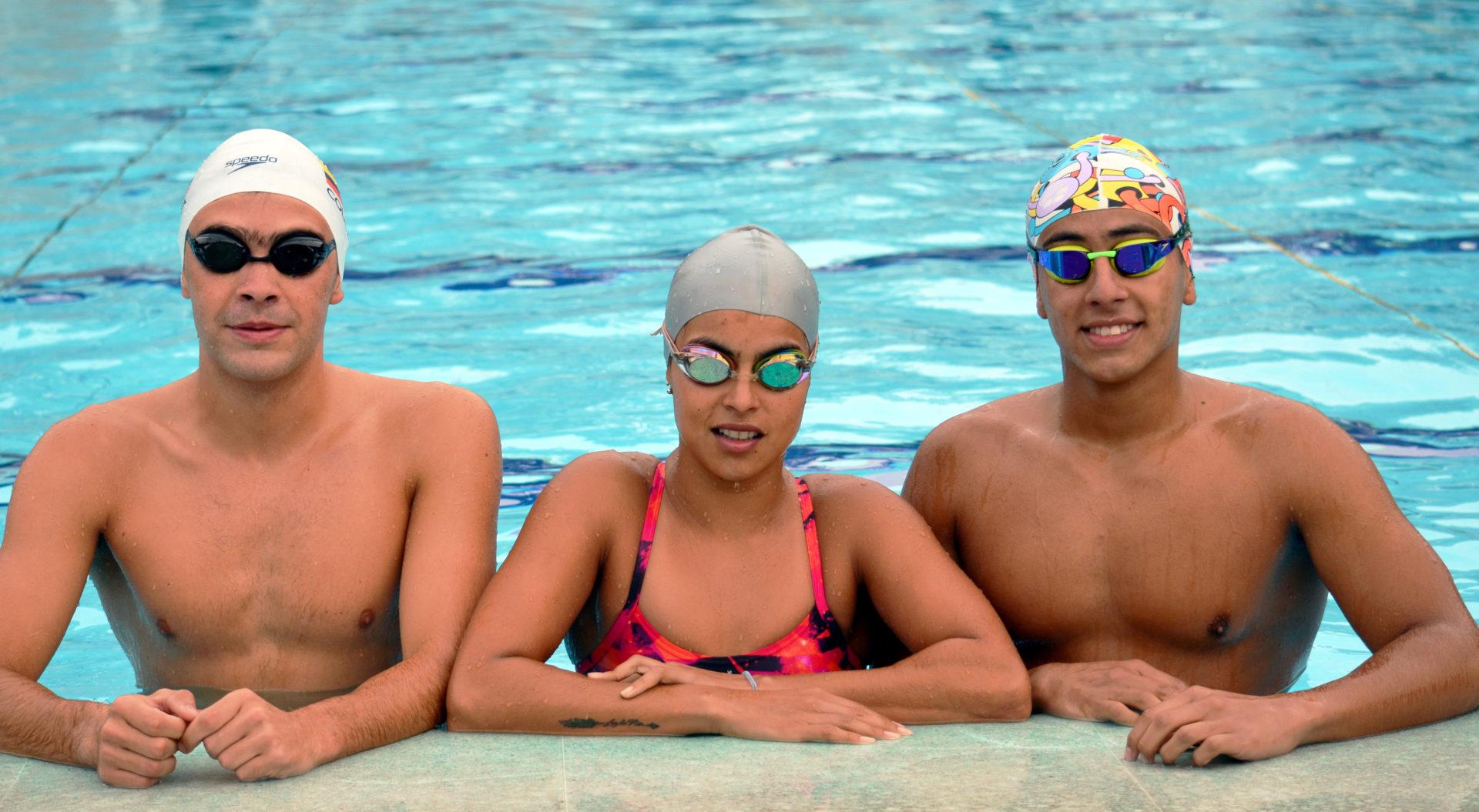 Los deportistas Maira Vargas, Eduardo Londoño y Julián Aránzazu se preparan para los Olímpicos