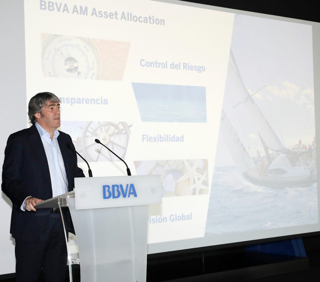 Imagen de Jaime Martinez, director de Asset Allocation de BBVA Asset Management, durante su intervención en la Conferencia de Inversiones 2018.