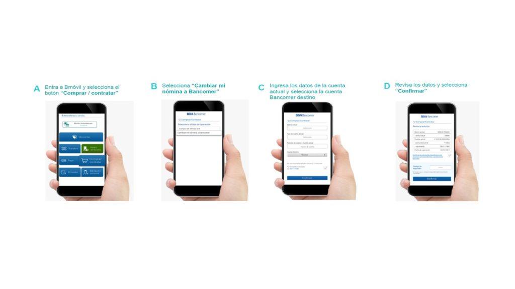 celulares portabilidad nómina Bancomer