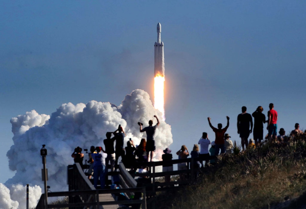 Inaugural SpaceX Falcon Heavy Launch - Cape Canaveral