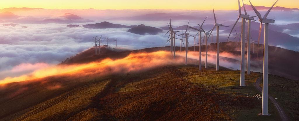 Fotografia de molinos de viento BBVA
