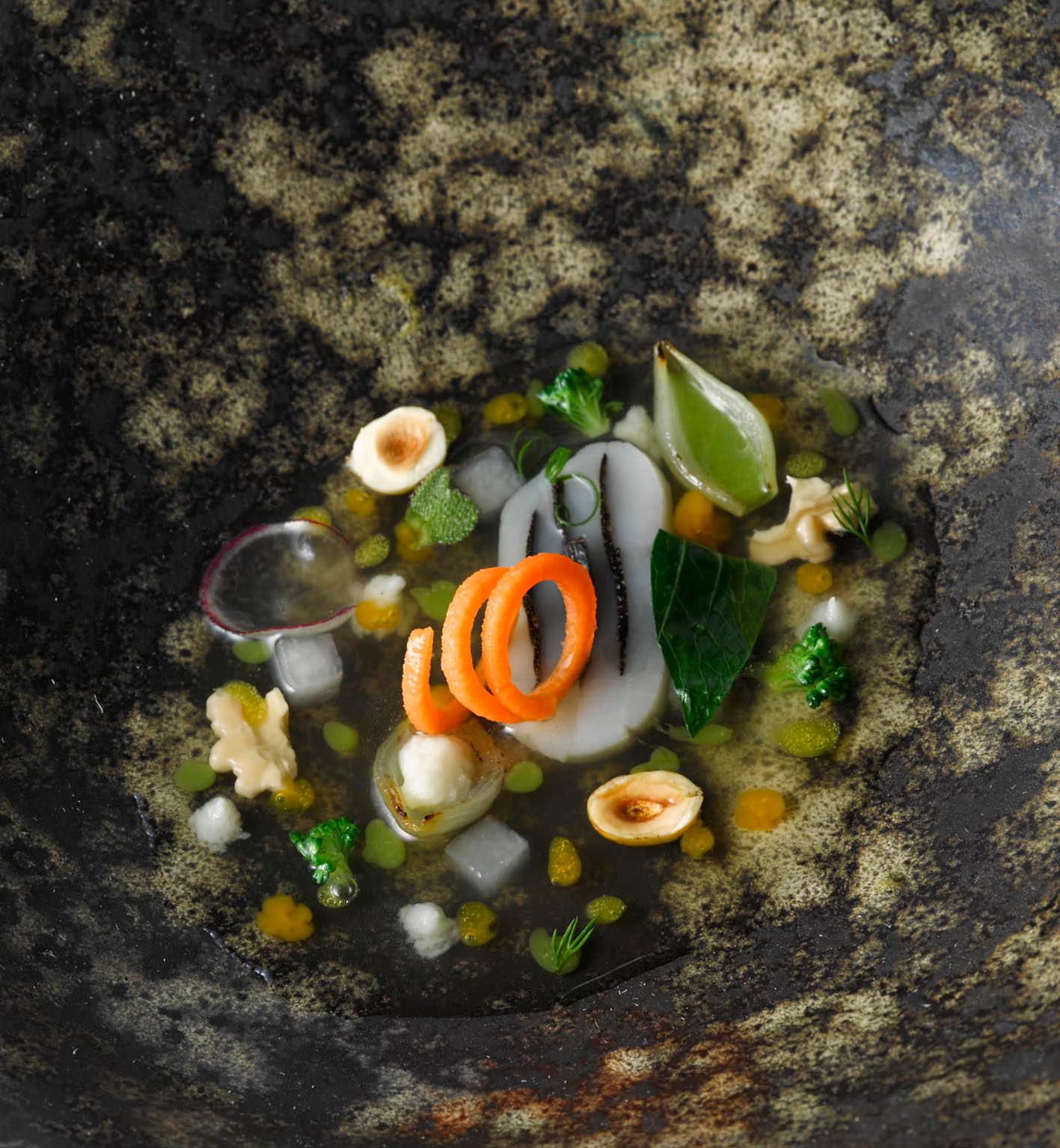 Consome vegetal a baja temperatura - El Celler Can Roca