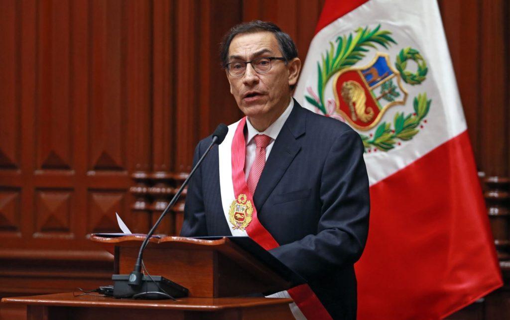 Fotografía de Martín Vizcarra, nuevo presidente del Perú.