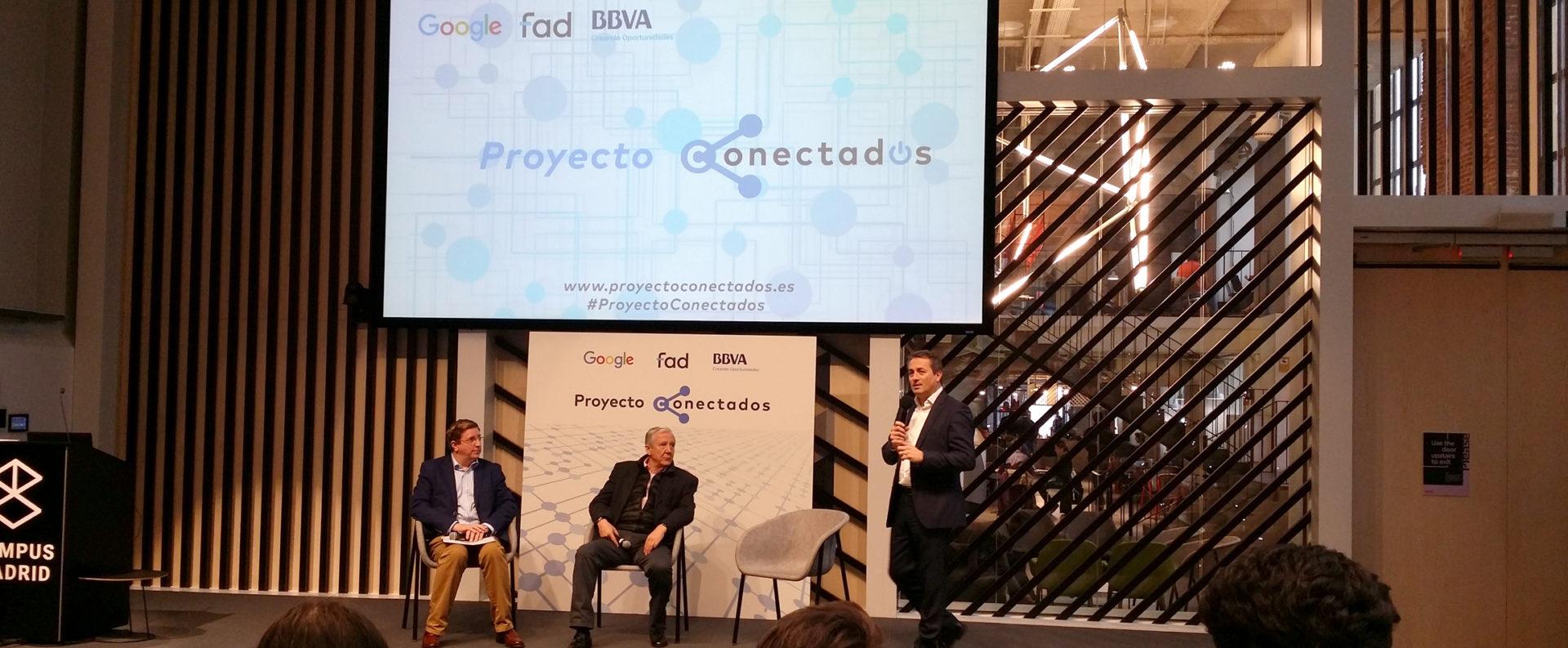 presentación proyecto conectados educación BBVA