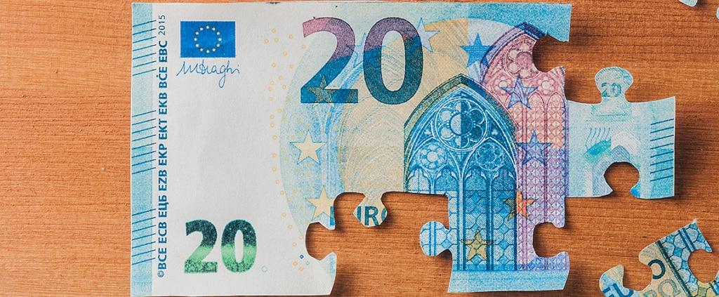 Imagen de Recurso billete ahorro euro puzzle