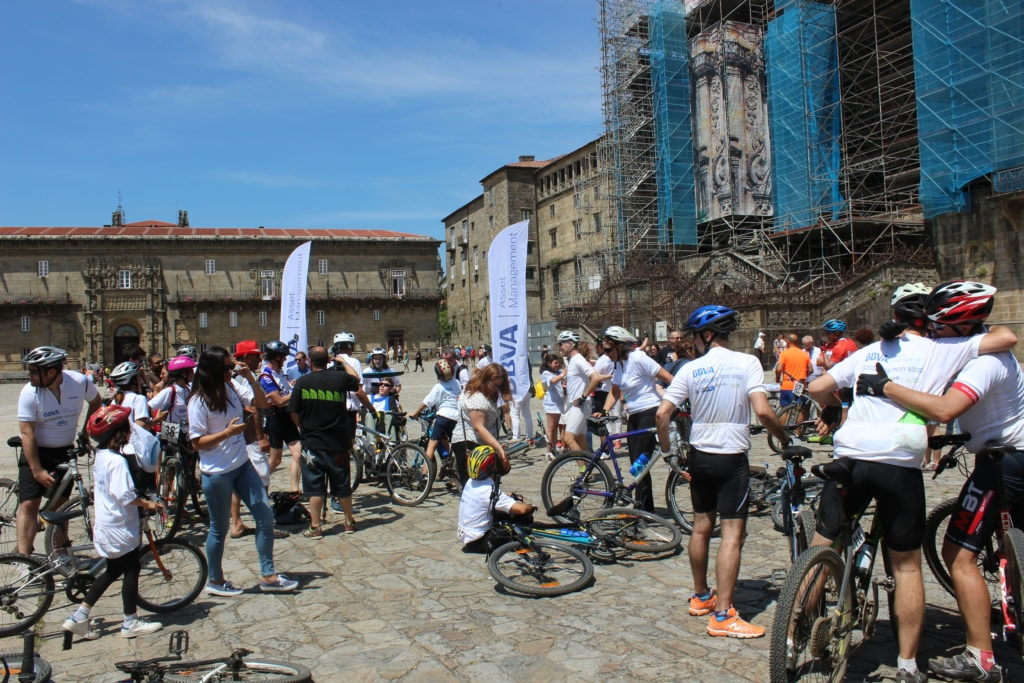 Imagen de Solidarios AM Non Stop 2017 BBVA Asset Management Camino de Santiago
