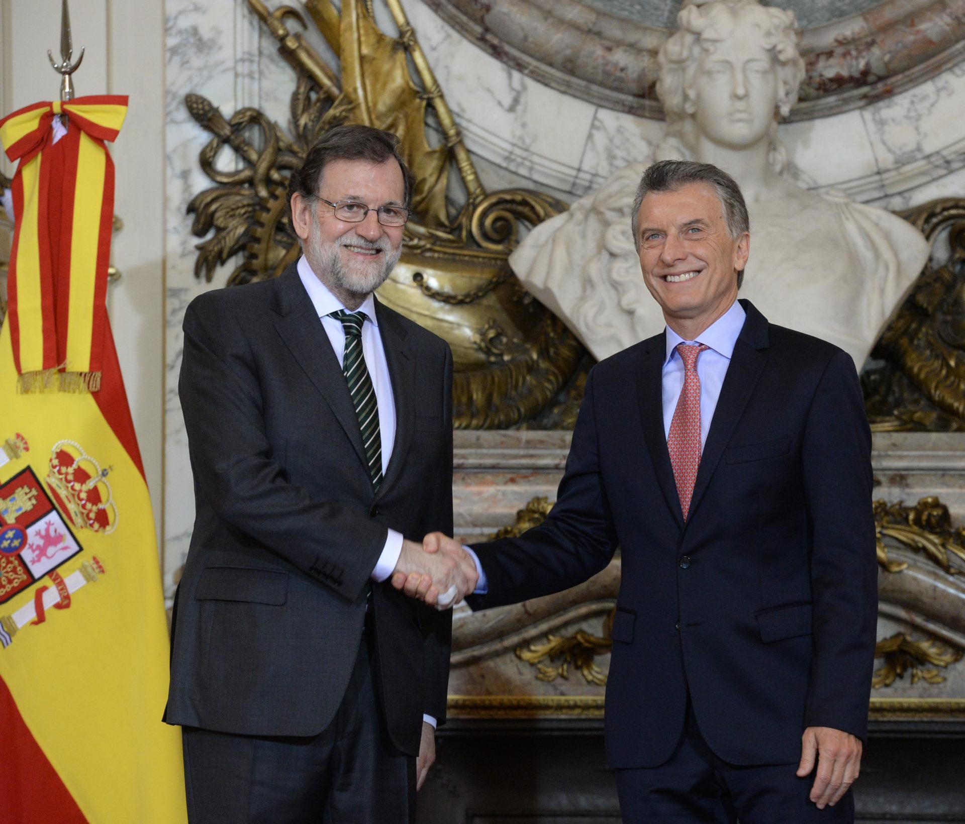 El presidente Macri recibió al presidente del Gobierno de España, Mariano Rajoy