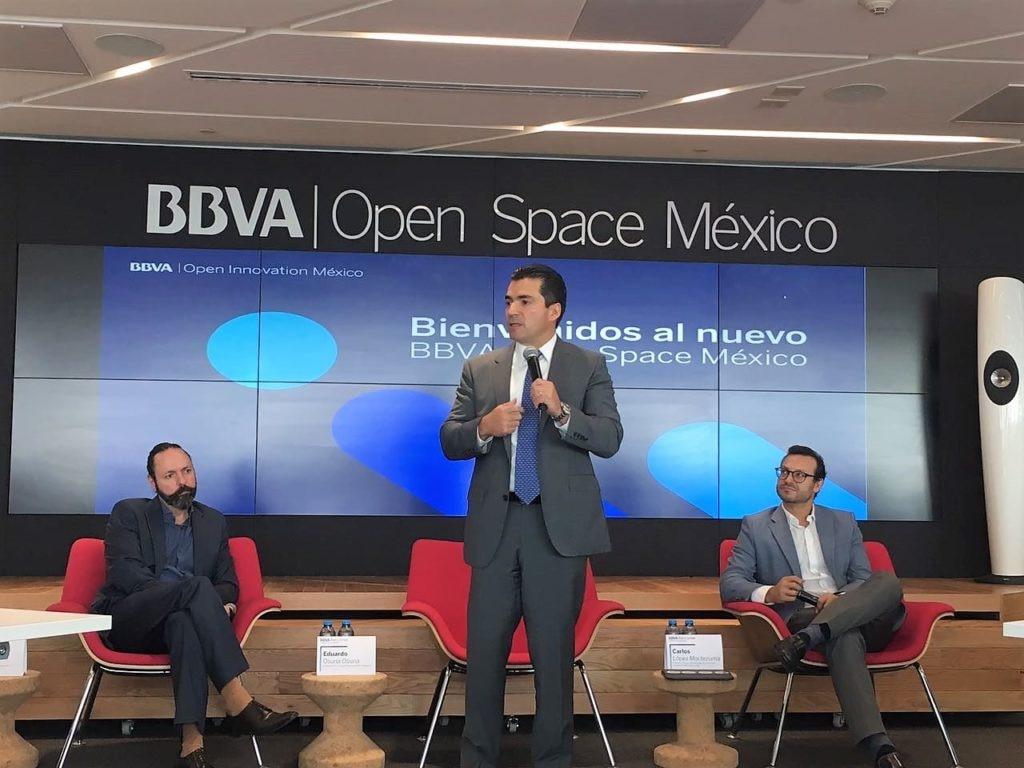 Eduardo Osuna, Vicepresidente y Director General de BBVA Bancomer durante la presentación de OPEN SPACE 09 abril 2018