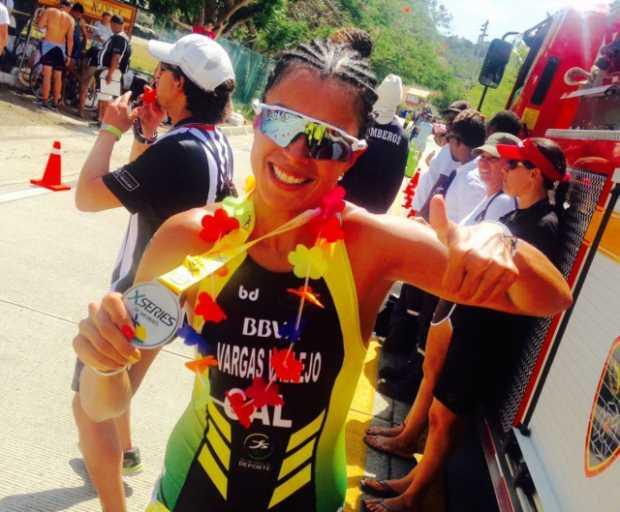 Maira Vargas, triatleta patrocinada por BBVA Colombia