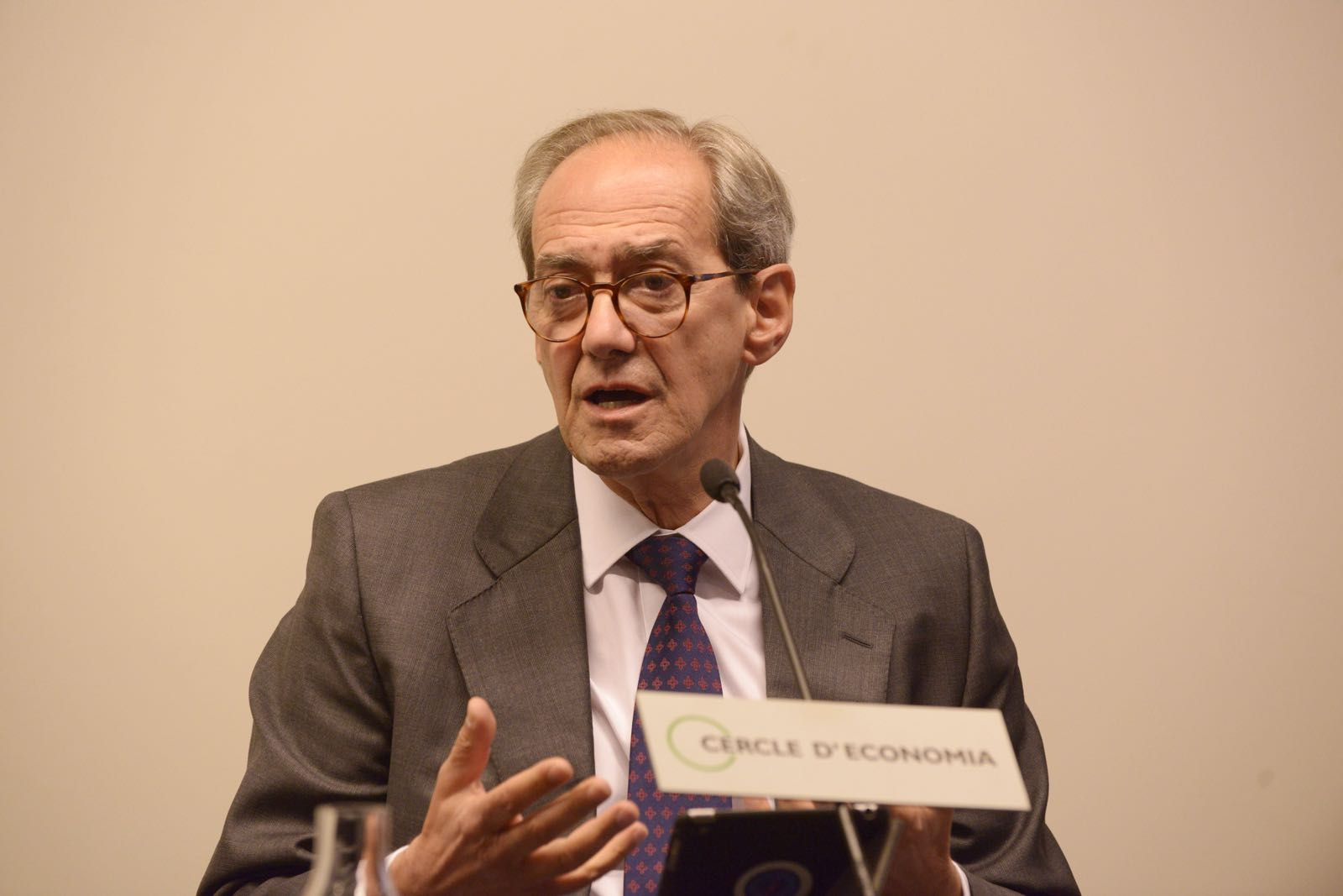 José Manuel González-Páramo, BBVA, at AmCham event in Barcelona