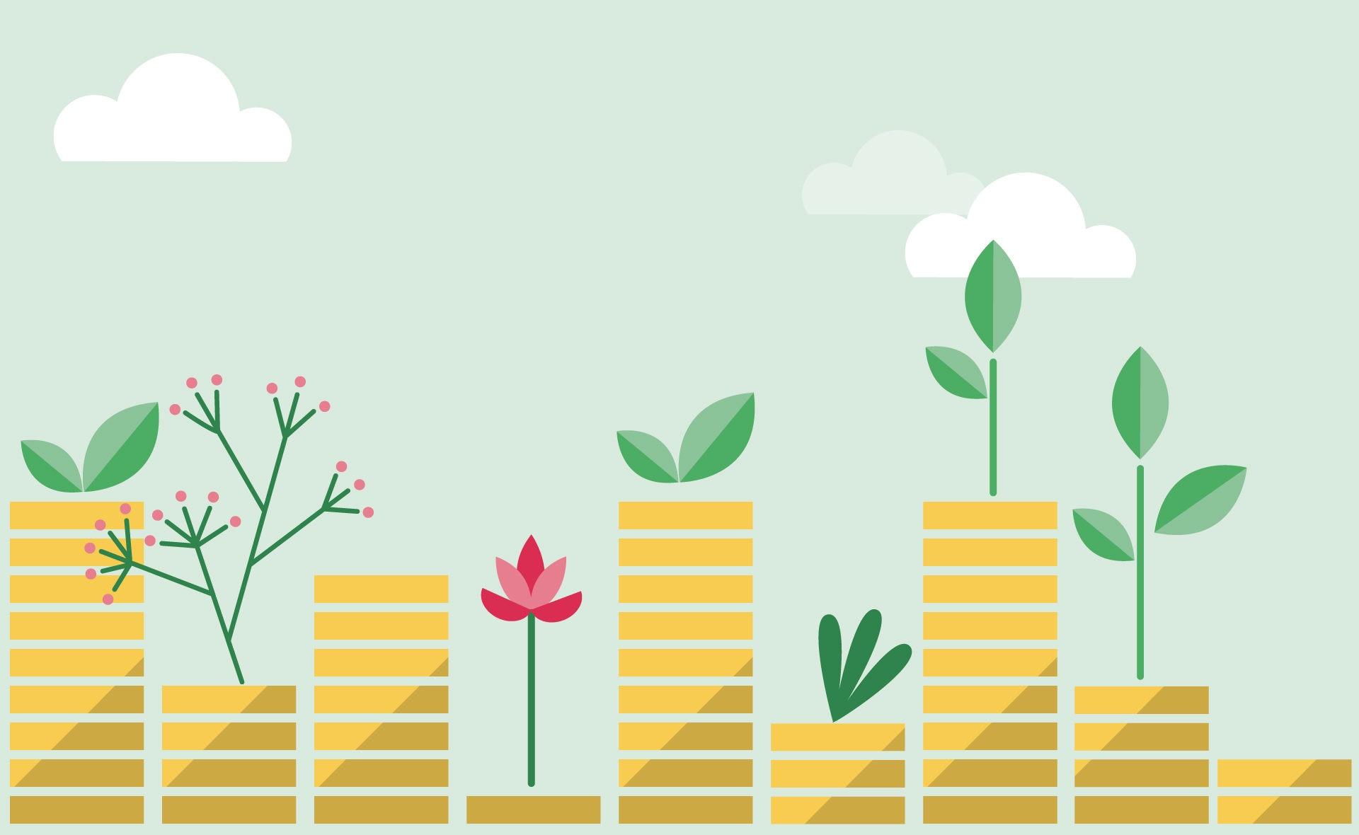 Fotografía de Finanzas sostenibles, verde, crecimiento, dinero, sostenibilidad