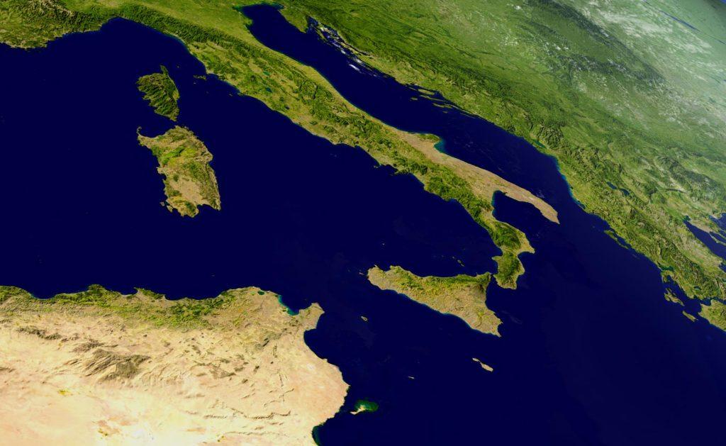 Fotografía de Italia, verde, sostenibilidad, mapa, globo, bota, finanzas