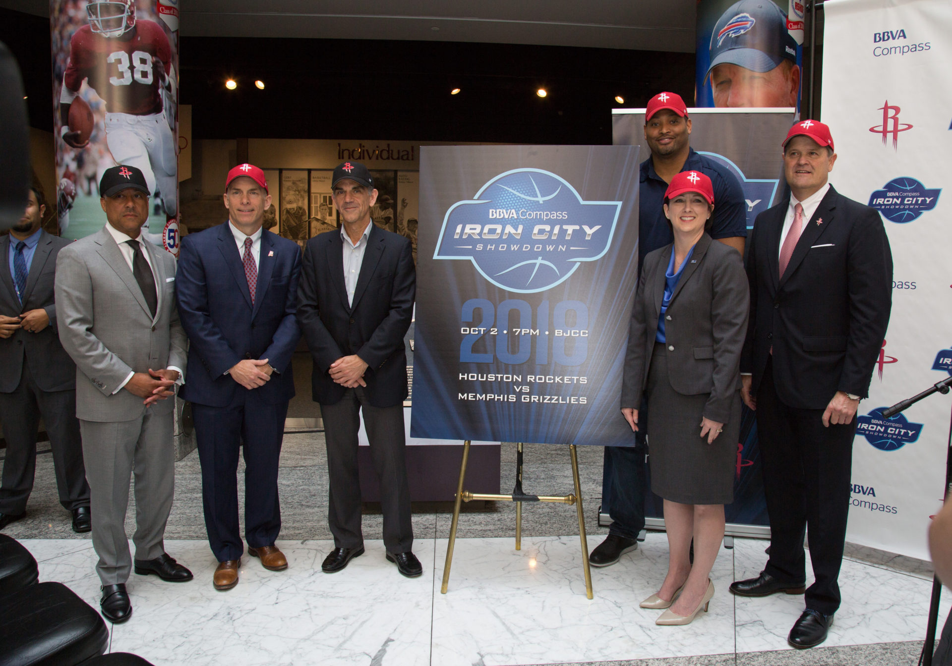 BBVA Compass Iron City Showdown brings the Houston Rockets and the Memphis Grizzlies to Birmingham
