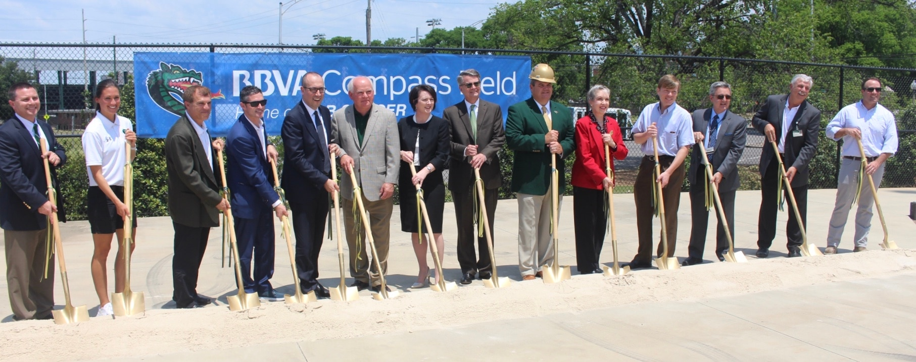 he UAB Department of Athletics, along with BBVA Compass and Birmingham Legion FC, celebrated the stadium expansion of BBVA Compass Field Wednesday on the campus of UAB.