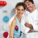 Jordi Roca y Alejandra Rivas en Rocambolesc BBVA