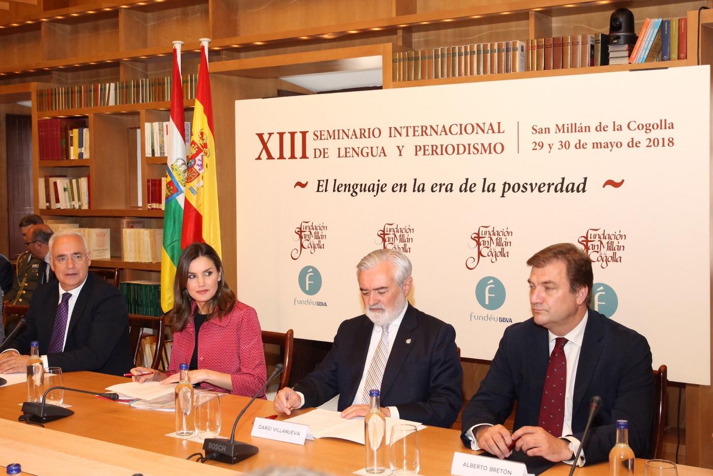 La reina Letizia inaugura el Seminario Internacional de Fundéu BBVA